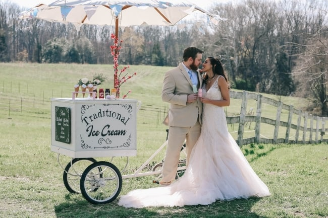 Summer ice cream styled shoot in Virginia