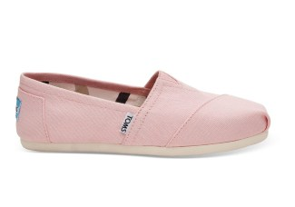 Tom'S PINK CANVAS bridal shoes