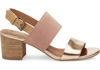 Tom's rose gold bridal sandals
