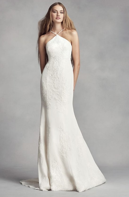 WHITE BY VERA WANG halter 2nd marriage gown
