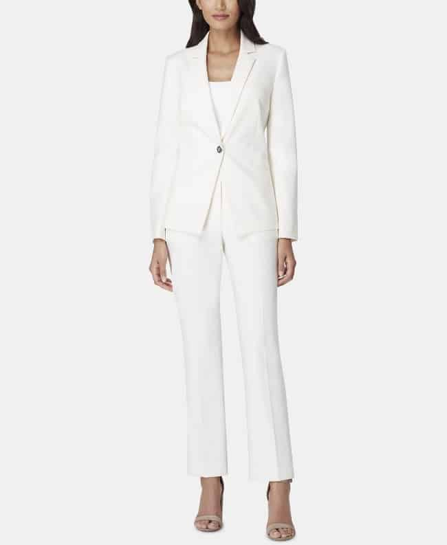 White Pant suit for second wedding ceremony