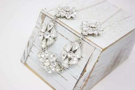 chunky bridal necklace for 2nd marrige bride