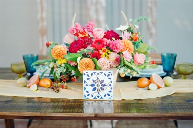 colorful Mexican inspired wedding