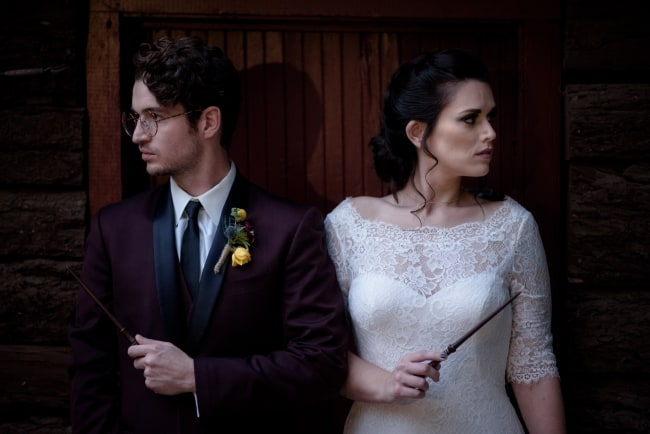 harry potter styled shoot couple featured