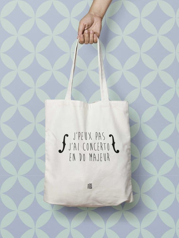 personalized tote bag for musician gift