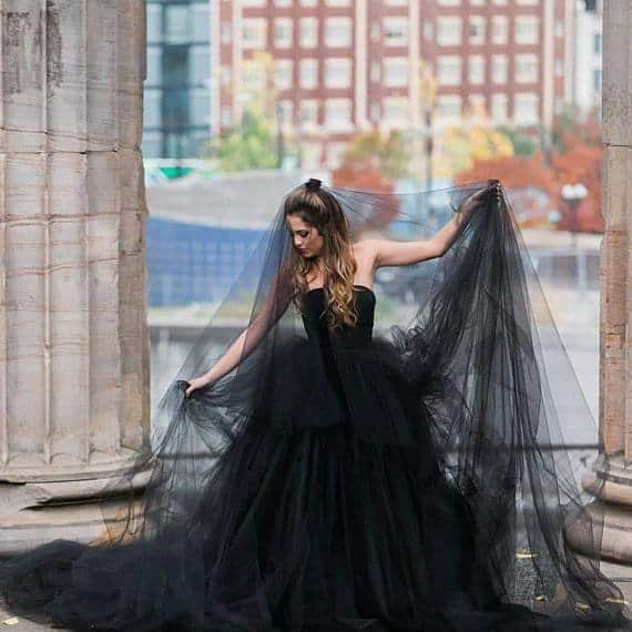 Black Cathedral Bridal Veil