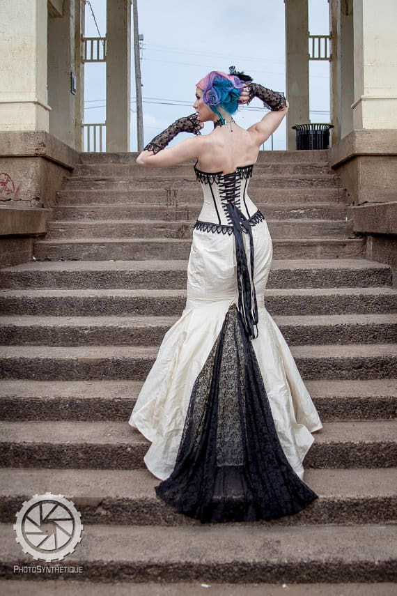 Gothic Bridal Steampunk Gown