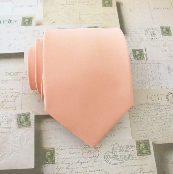 Groom's Light Peach neck tie