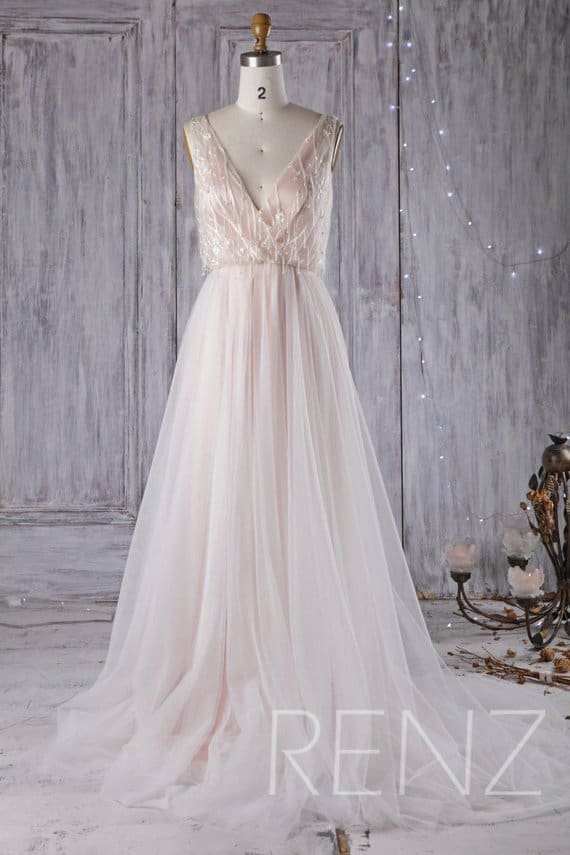 5 Peach Wedding Dresses We\'re Blushing Over!