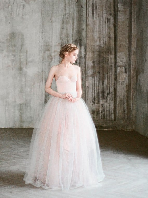 5 peach wedding dresses were blushing over peach colored princess wedding dress junglespirit Choice Image