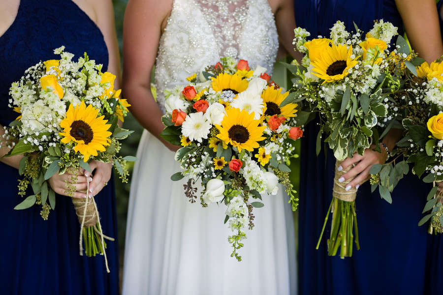 Sunny Sunflower Outdoor Wedding Love Amp Lavender