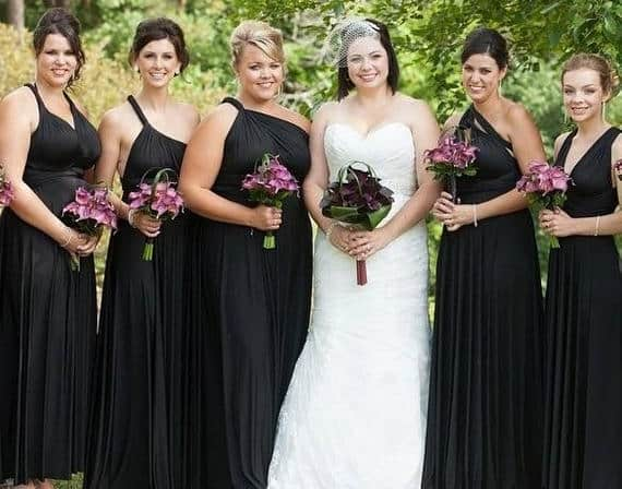 Black infinity Convertible Bridesmaid dress