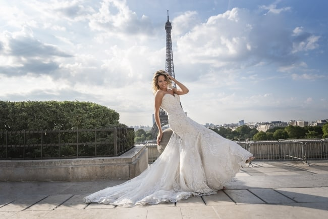 Bridal Portraits at The Eiffel Tower
