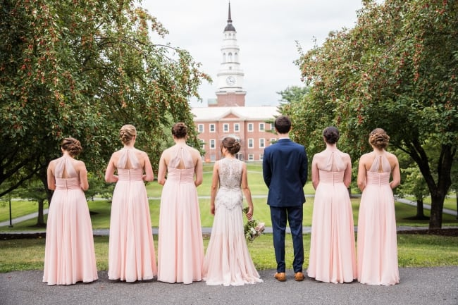 College Sweethearts Wedding at Colby College