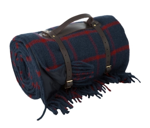 Pure New Wool Polo Picnic blanket anniversary gift for him
