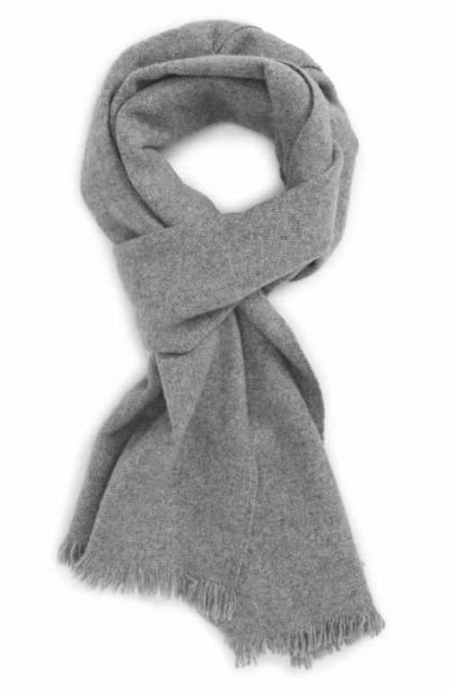 Solid Cashmere Scarf for anniversary gift for him