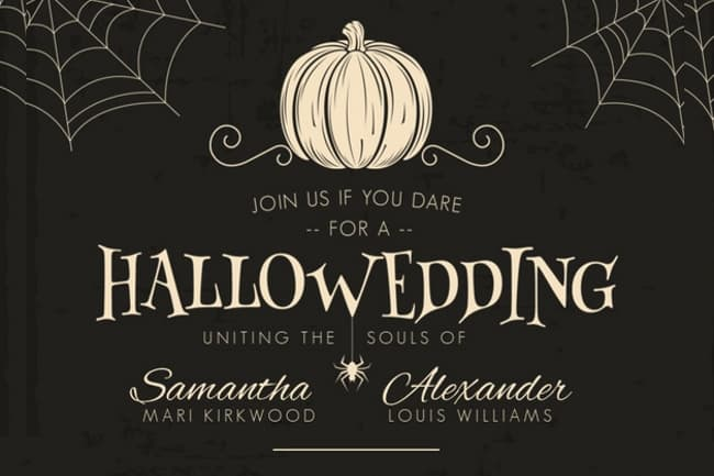 Top 8 Freakishly Awesome Halloween Wedding Invitations