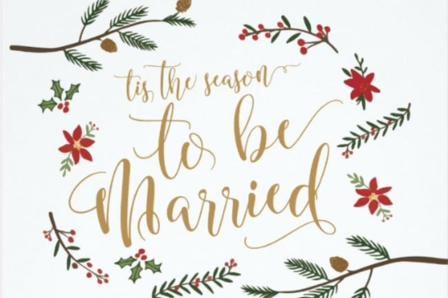 Top Christmas Themed Wedding Invitations