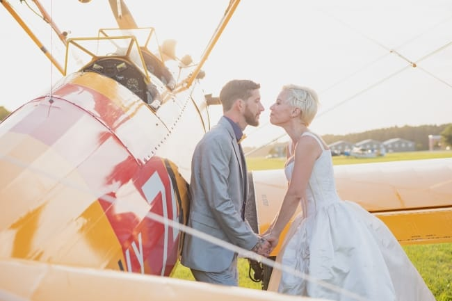Vintage Inspired Military Aviation Museum Wedding feature