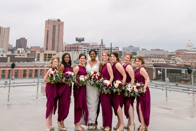 Silver and Sangria Wedding in St Paul feature