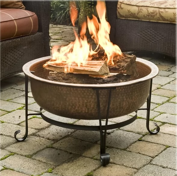 Copper Wood Burning Fire Pit 7th anniversary gift for him