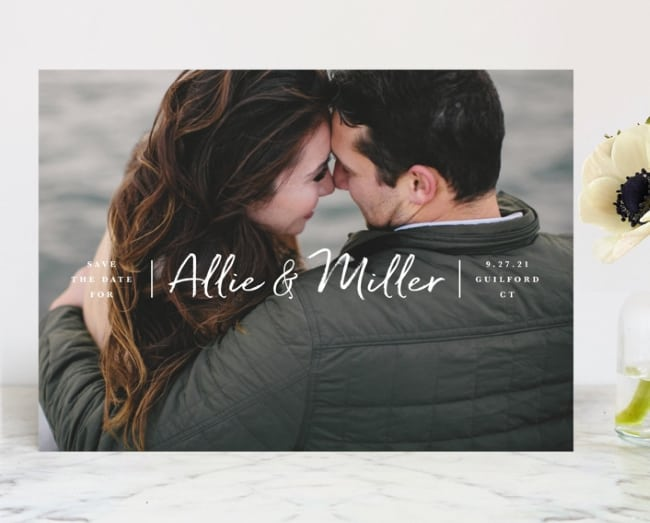 Minted swiftly insert image save the date