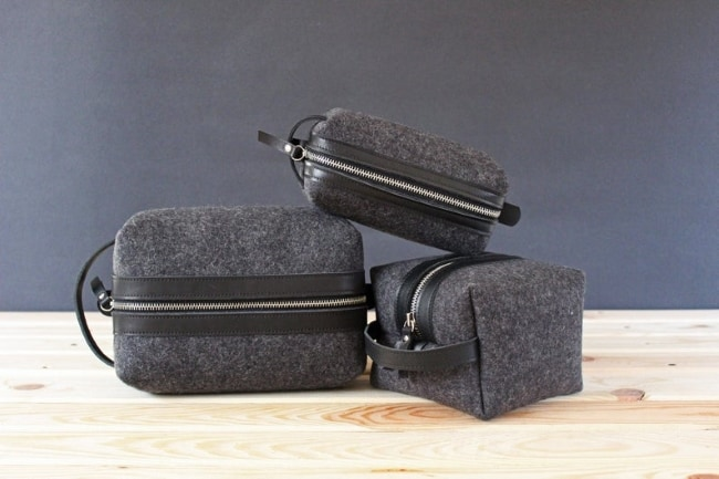 Wool Toiletry Bag for 7th anniversary gift for him