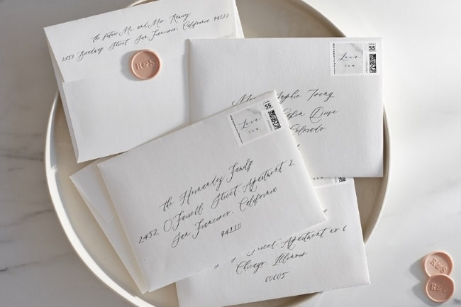 Addressing Wedding Envelopes- Handwritten vs. Printed Calligraphy