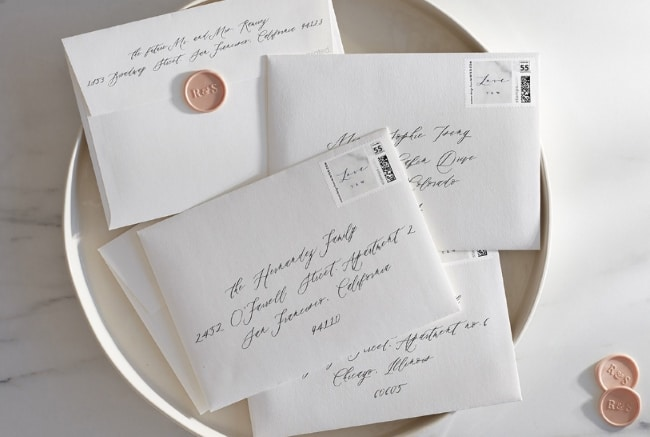 Addressing Wedding Envelopes Printed Calligraphy