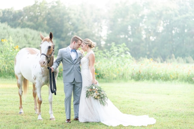 Dusty Summer Farm Styled Wedding feature