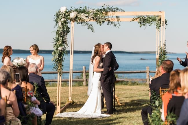 Romantic Coastal Maine Wedding feature