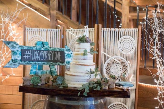 wedding hashtag on sign