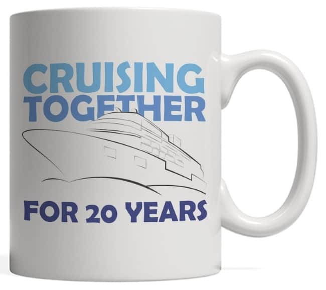 Cruising togther for 20 years china anniversary gift