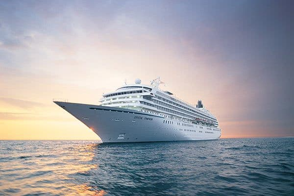 Crystal cruise for 15th anniversary gift