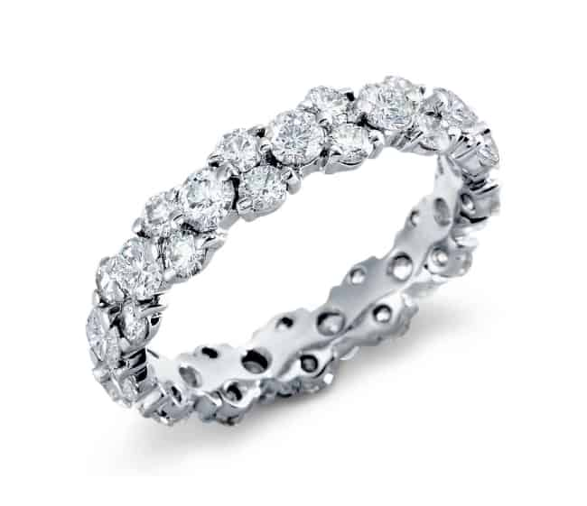 Diamond Eternity Ring for platinum anniversary gift