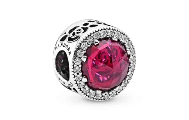 Pandora Pink Crystal Charm for 15th anniversary gift