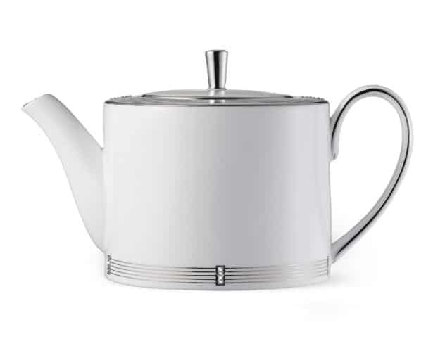 Platinum China Teapot for anniversary gift for her