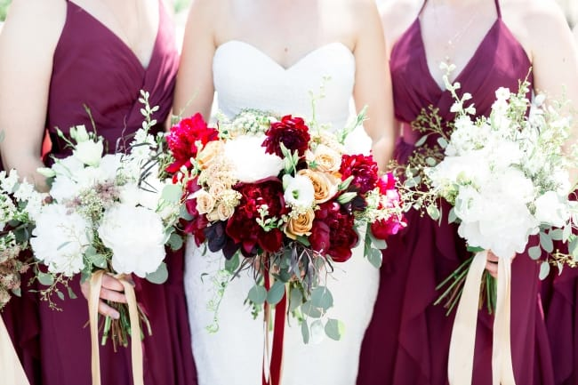Beautiful Burgundy & Gray Wedding in Northern California feature