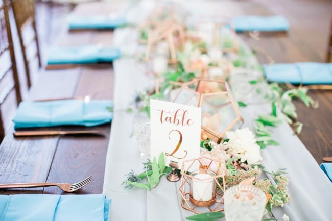 Coral, Copper and Blue Destination Wedding in Nashville feature