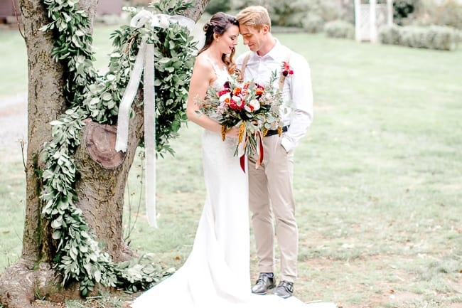Rustic Chic Styled Wedding at Webb Barn Feature