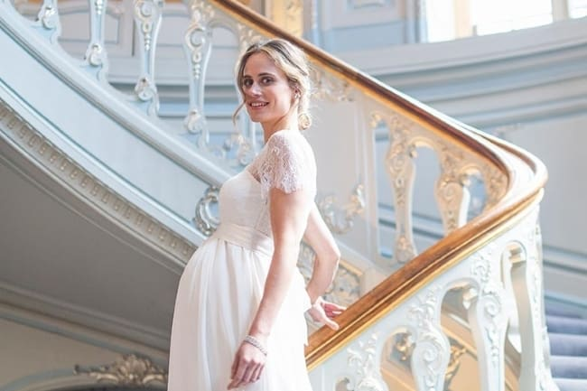 ivory maternity gown seraphine
