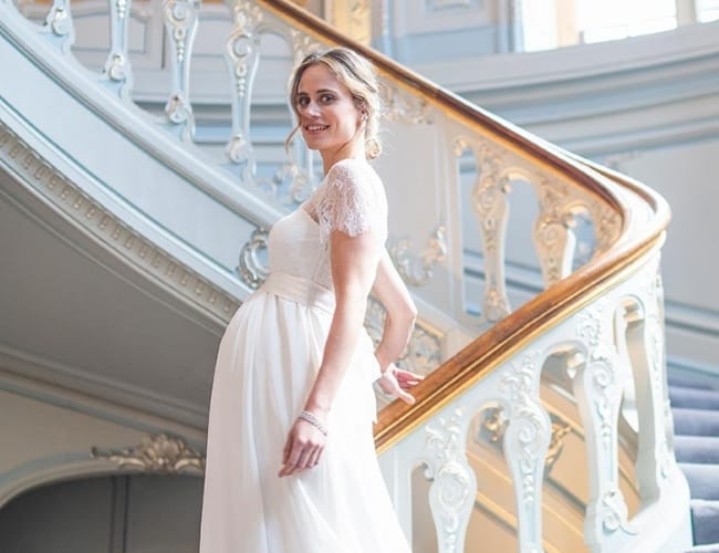 a867a18f9a865 5 Affordable Maternity Wedding Dresses for Comfort & Style