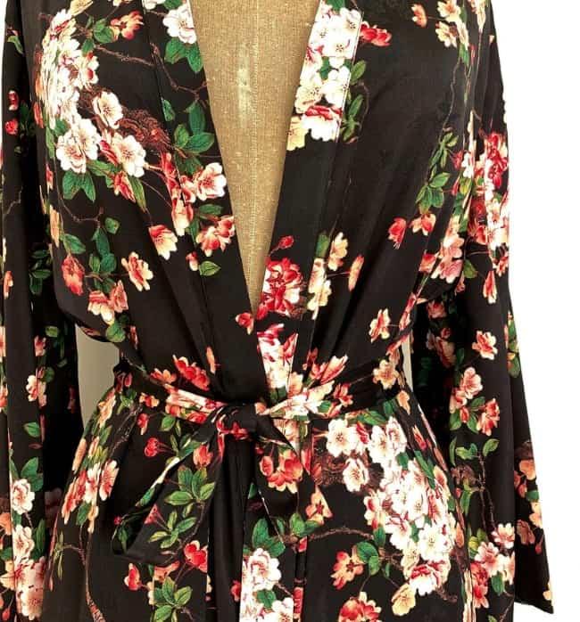 Luxury Silk Kimono as bridesmaids gifts