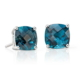 Swiss Blue Topaz Cushion Earrings