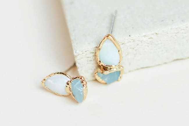 opal earring design from Etsy