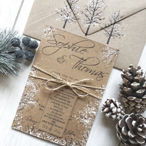 9 Christmas Themed Wedding Invitations Tis The Season To Be Married