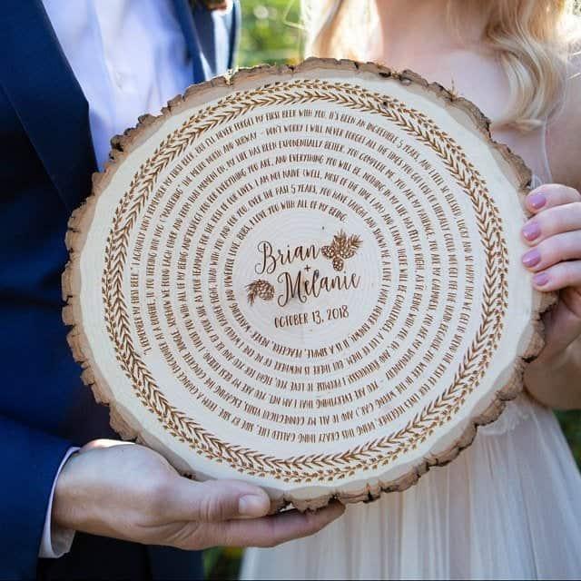 24 Amazing Ways To Turn Wedding Vows Into Art