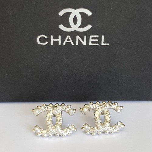 Vintage Chanel Bamboo Stud Earrings