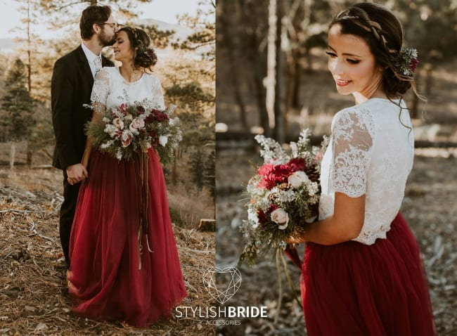 Red And White Wedding Dress