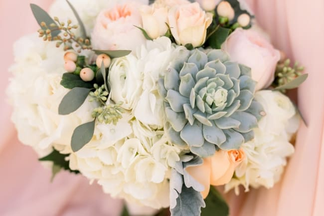 Blush & Slate Grey Wedding at the Hilton El Conquistador feature